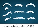 snow caps lying on menu bar and ... | Shutterstock .eps vector #537451156