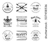 manicure and pedicure  beauty... | Shutterstock .eps vector #537458536