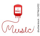 blood bag type music red color... | Shutterstock .eps vector #537461452