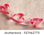 dainty chain of alternating red ... | Shutterstock . vector #537462775