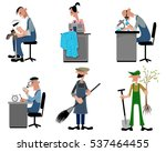 vector illustration of a six... | Shutterstock .eps vector #537464455