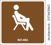icon rest area | Shutterstock .eps vector #537465862