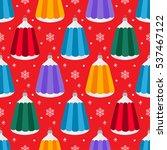 christmas tree decorations... | Shutterstock .eps vector #537467122