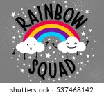rainbows and two little clouds... | Shutterstock .eps vector #537468142