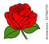 flowers roses  red buds and... | Shutterstock .eps vector #537482755
