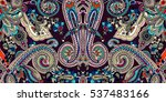 abstract geometric paisley... | Shutterstock .eps vector #537483166