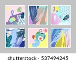 collection of creative... | Shutterstock .eps vector #537494245