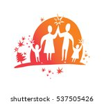 family holidays concept vector... | Shutterstock .eps vector #537505426