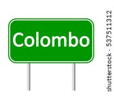 colombo road sign isolated on... | Shutterstock .eps vector #537511312