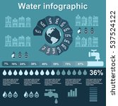water infographic elements on... | Shutterstock .eps vector #537524122