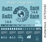 water infographic elements on... | Shutterstock .eps vector #537524182