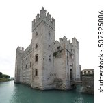 the medieval scaliger castle in ...