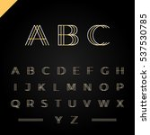 3d effect font or alphabet .... | Shutterstock .eps vector #537530785