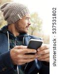 handsome hipster modern man... | Shutterstock . vector #537531802