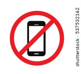 no cell phone sign vector   Shutterstock .eps vector #537532162