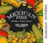 mexican food background with... | Shutterstock .eps vector #537548362
