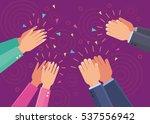 vector applause clap hands