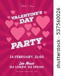 valentine's day invitation... | Shutterstock .eps vector #537560026