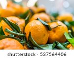 Closeup Of Orange Satsuma...