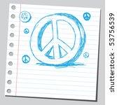 scribble peace sign | Shutterstock .eps vector #53756539