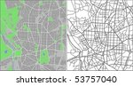 layered vector map of madrid. | Shutterstock .eps vector #53757040