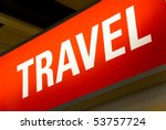 red illuminated sign with the... | Shutterstock . vector #53757724