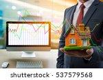 computer business concept of... | Shutterstock . vector #537579568