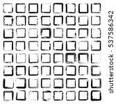 set of 64 unique ink sketched...   Shutterstock .eps vector #537586342