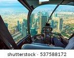 helicopter cockpit flies in... | Shutterstock . vector #537588172
