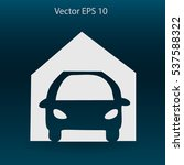 flat garage icon. vector   Shutterstock .eps vector #537588322