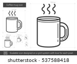 coffee mug vector line icon... | Shutterstock .eps vector #537588418