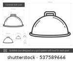 covered dish vector line icon... | Shutterstock .eps vector #537589666