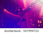 electric guitar player on a... | Shutterstock . vector #537594712