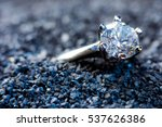 a precious ring with a polished ... | Shutterstock . vector #537626386