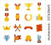 various winning trophies  prize ...   Shutterstock .eps vector #537628645