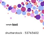 circle pattern on white... | Shutterstock .eps vector #53765602