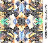 mosaic colorful pattern for... | Shutterstock . vector #537659692