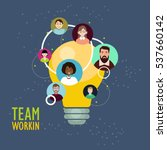 team working concept.flat... | Shutterstock .eps vector #537660142