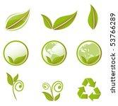 vector green set | Shutterstock .eps vector #53766289