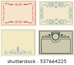 postage stamps set | Shutterstock .eps vector #537664225