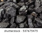 coal mineral black cube stone... | Shutterstock . vector #537675475
