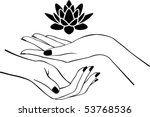 Female Hands With Lotus   Logo...