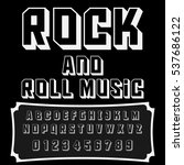 font handwritten  vector... | Shutterstock .eps vector #537686122