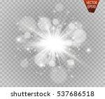 glow light effect. star burst... | Shutterstock .eps vector #537686518