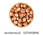 Hazelnuts In A Wooden Bowl...