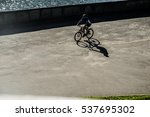 silhouette of a cyclist at... | Shutterstock . vector #537695302