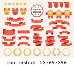 vector collection of decorative ... | Shutterstock .eps vector #537697396