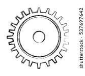 gears machine isolated icon... | Shutterstock .eps vector #537697642