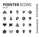simple modern set of pointer... | Shutterstock .eps vector #537703945