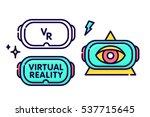 virtual reality glasses headset ... | Shutterstock .eps vector #537715645